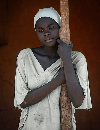 Portrait of a young lady in a small fishing village.