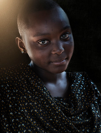 Portrait of a young Tanzania lady.  Tanzania, 2019