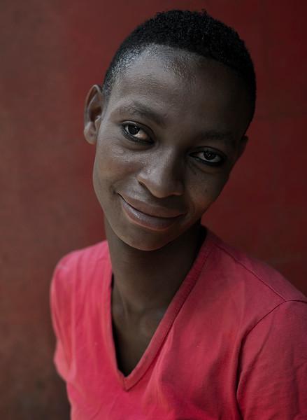 Portrait of a waitress.   Tanzania, 2019.