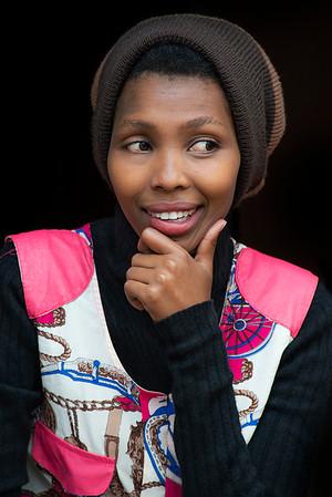 Portrait of a young waitress.  Tanzania, 2019