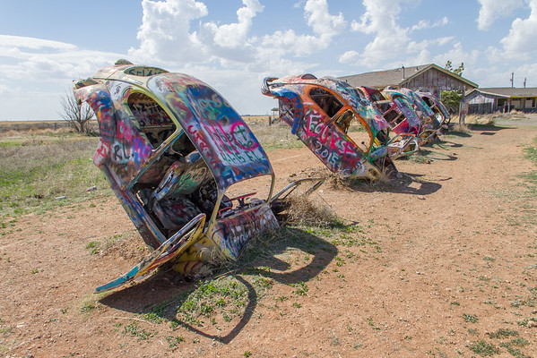 VW Slug Bug Ranch -- NOT the Cadillac Ranch -- near Conway, TX, about 20 miles east of Amarillo.