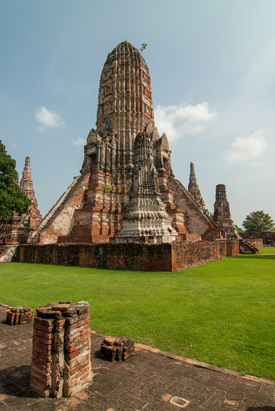 Chai Watthanaram Temple, Ayutthaya, Thailand is a Buddhist temple in the city of Ayutthaya's Historical Park on the west bank of the Chao Phraya River. It is one of Ayutthaya's best known temples and a major tourist attraction. There are restored and not restored ruins of a 17th-century royal Buddhist temple in a picturesque, riverside setting.
