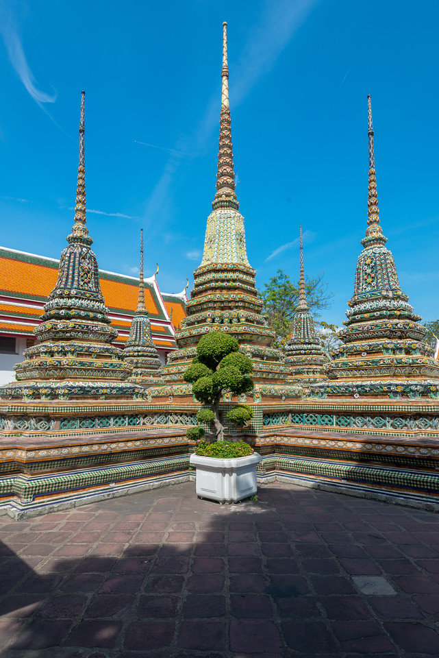 Wat Pho (Thai: วัดโพธิ์). Temple of the Reclining Buddha, its official name is Wat Phra Chetuphon Vimolmangklararm Rajwaramahavihar.<br /> <br /> King Rama I rebuilt the temple complex on an earlier temple site, and became his main temple where some of his ashes are enshrined. The temple was later expanded and extensively renovated by Rama III. The temple complex houses the largest collection of Buddha images in Thailand.