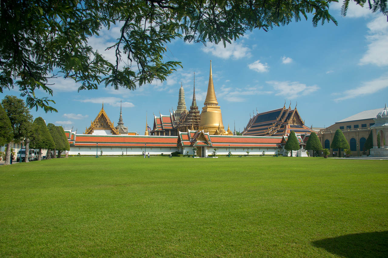 The Royal Pantheon. Wat Phra Kaew, commonly known in English as the Temple of the Emerald Buddha and officially as Wat Phra Si Rattana Satsadaram, is regarded as the most sacred Buddhist temple in Thailand. On the grounds of the Grand Palace, this sacred temple is renowned for its reclining emerald Buddha.