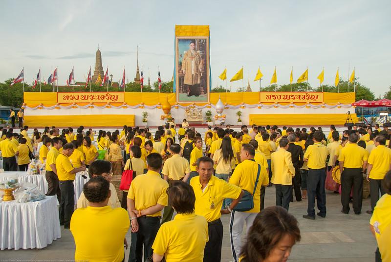 Celebrations in Bangkok, Thailand.