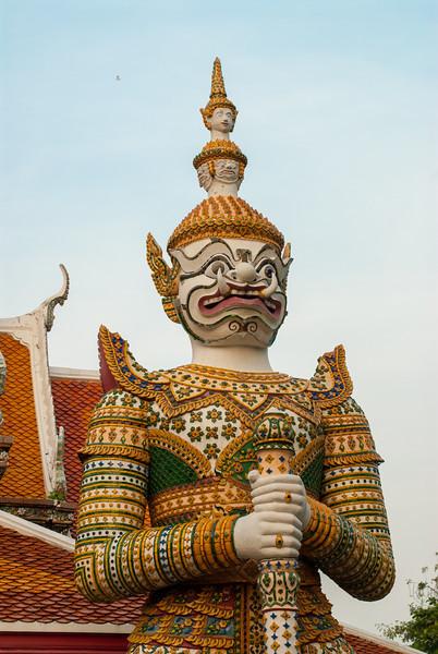 Wat Arun Ratchawararam Ratchawaramahawihan, Bangkok, Thailand.<br /> <br /> Wat Arun Ratchawararam Ratchawaramahawihan or Wat Arun is a Buddhist temple in Bangkok Yai district of Bangkok, Thailand, on the Thonburi west bank of the Chao Phraya River.