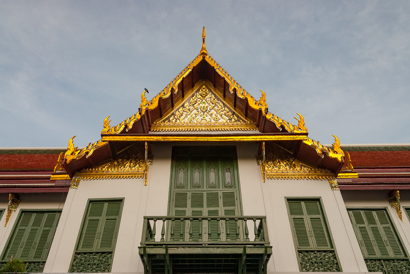 Beautifully decorated buildings of the Grand Palace, Bangkok, Thailand.