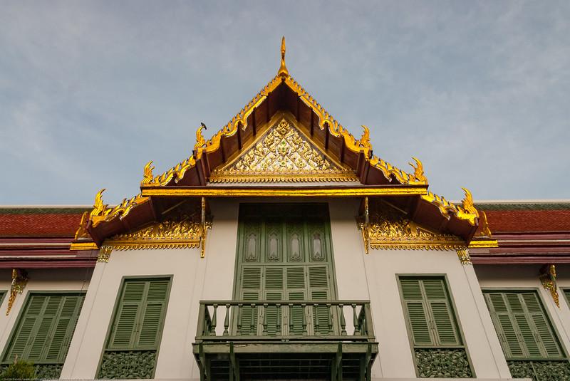 Beautifully decorated buildings of the Grand Palace, Bangkok, Thailand.