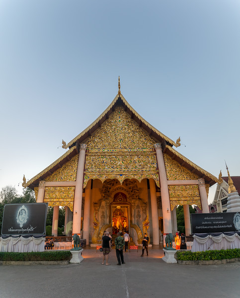 Wat Chedi Luang (วัดเจดีย์หลวง) (temple of the big stupa or temple of the royal stupa). <br /> Wat Chedi Luang is a Buddhist temple in the historic centre of Chiang Mai, Thailand. The current temple grounds were originally made up of three temples — Wat Chedi Luang, Wat Ho Tham and Wat Sukmin. Chiang Mai, Thailand.