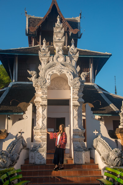 Buddhist Manuscript Library and Museum (วัดเจดีย์หลวง พระพุทธพจนวรภรณ์). Wat Chedi Luang (วัดเจดีย์หลวง) (temple of the big stupa or temple of the royal stupa).