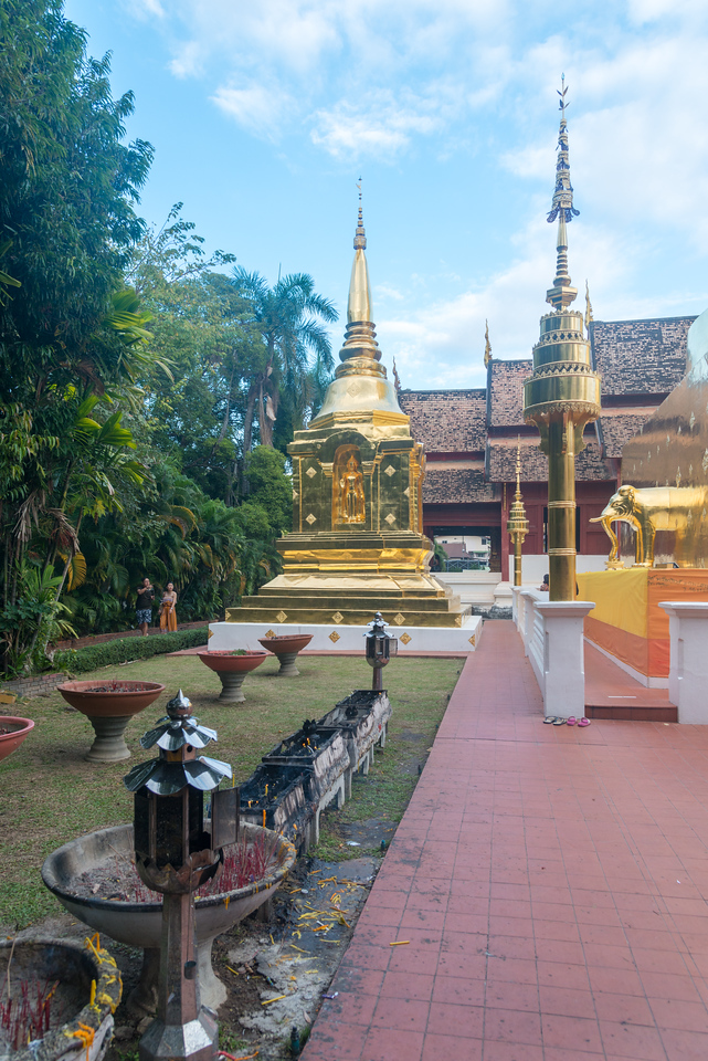 Wat Phra Singh Woramahawihan (วัดพระสิงห์วรมหาวิหาร ), 14th-century Buddhist temple boasting gold & copper Buddhas, murals & ancient manuscripts.Chiang Mai, Thailand.