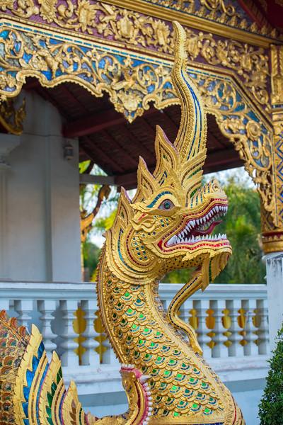 Wat Phra Singh Woramahawihan (วัดพระสิงห์วรมหาวิหาร ), 14th-century Buddhist temple boasting gold & copper Buddhas, murals & ancient manuscripts.Chiang Mai, Thailand.