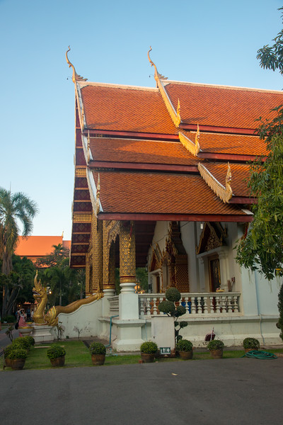 Beautiful traditional Thai architecture at Wat Phra Singh Woramahawihan (วัดพระสิงห์วรมหาวิหาร ), 14th-century Buddhist temple boasting gold & copper Buddhas, murals & ancient manuscripts.Chiang Mai, Thailand.