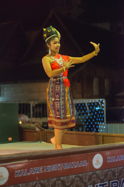 Young dancers at the Kalare Night Bazaar, Chiang Mai, Thailand.