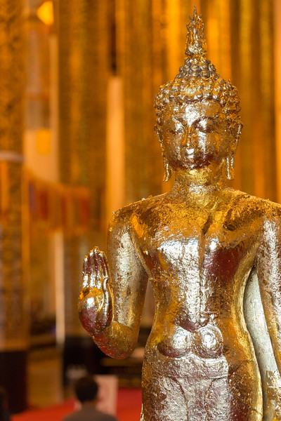 Inside viharn of Wat Chedi Luang (วัดเจดีย์หลวง) (temple of the big stupa or temple of the royal stupa). <br /> Wat Chedi Luang is a Buddhist temple in the historic centre of Chiang Mai, Thailand. The current temple grounds were originally made up of three temples — Wat Chedi Luang, Wat Ho Tham and Wat Sukmin. Chiang Mai, Thailand.