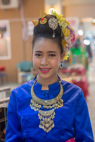 Young dancers at the Kalare Night Bazaar, Chiang Mai, Thailand.