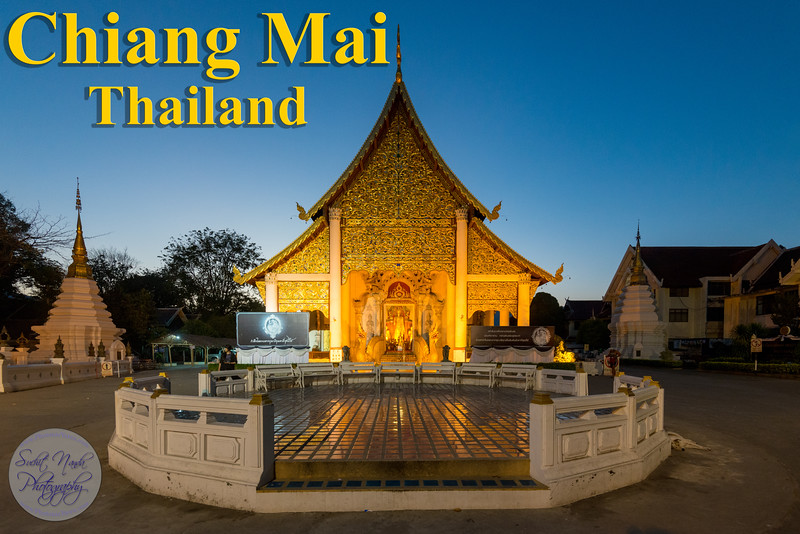 """Chiang Mai, Thailand (เชียงใหม่). Chiang Mai means """"New City"""" and was so named because it became the new capital of Lan Na when it was founded in 1296, succeeding Chiang Rai, the former capital founded in 1262. Chiang Mai is situated amongst the highest mountains in the country. The city sits astride the Ping River, a major tributary of the Chao Phraya River."""
