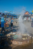 Mae Kachan Hot Spring and Geyser (น้ำพุร้อนแม่ขะจาน เชียงราย) (Wiang Pa Pao) <br /> Boiling eggs is a popupar activity with the tourists at Maekachan Hot Springs. Located in Mae Chedi Mai District, Wiang Pa Pao County, Chiang Rai Province. There are three natural hot spring wells. Each pond about 3 meters wide. With temperature of about 80 degrees boiled eggs can be cooked within 3 minutes. You can get rooms with mineral water private bath from the hot springs. Good place to halt between Chiang Mai – Chiang Rai and get a bite or buy souvenirs like clothing, local weaved cotton and jewellery, wood carvings, etc. at the local shop.