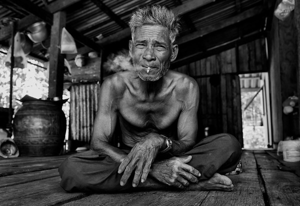 Retired local fisherman in the Island of Ko Chang.  Thailand, 2011