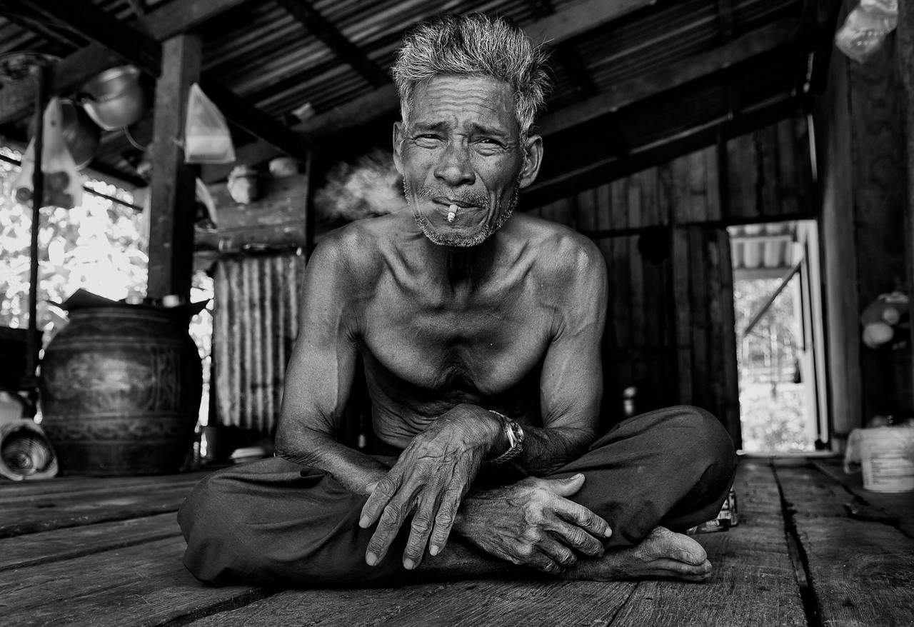 Retired local fisherman in the Island of Ko Chang.<br /> <br /> Thailand, 2011