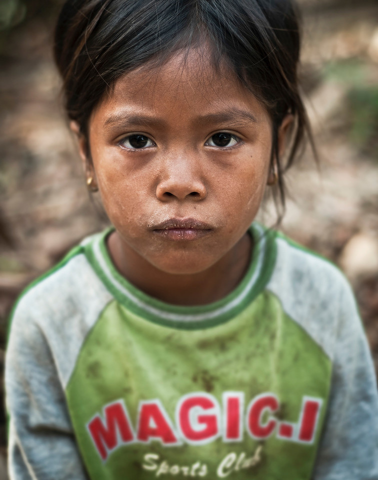 Portrait of a village girl.<br /> <br /> Northern Thailand, 2010.