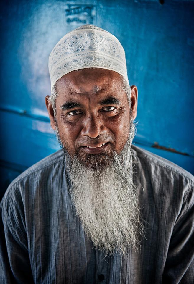 Portrait of a Muslim man<br /> <br /> Thailand, 2012