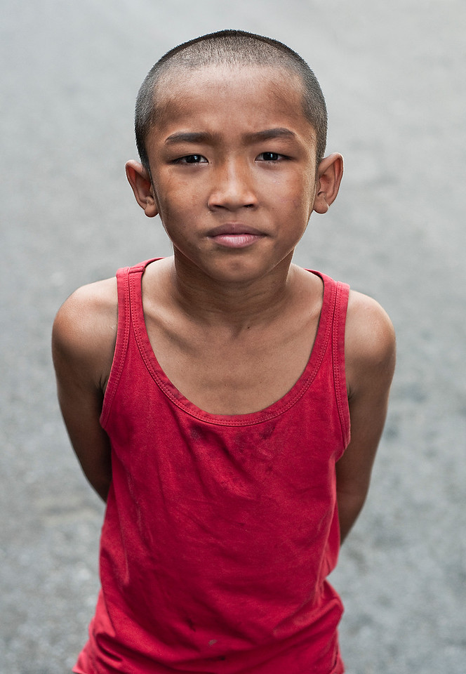 Street kid.<br /> <br /> Bangkok, Thailand, 2010