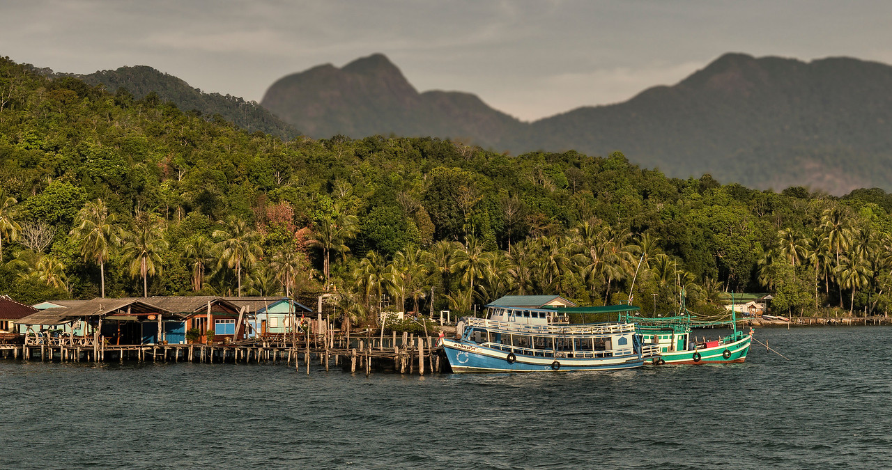 Small fishing village in the unspoiled northern coast of Ko Chang.<br /> <br /> Thailand, 2011.