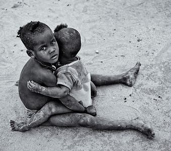 Children in the town of Jinka.  Omo Valley, Southern Ethiopia, 2013.