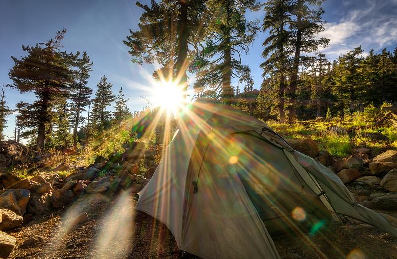 Camp at Summit Lake