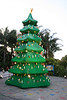 This enormous Lego Christmas tree must be about 30 feet high, made with Duplo's