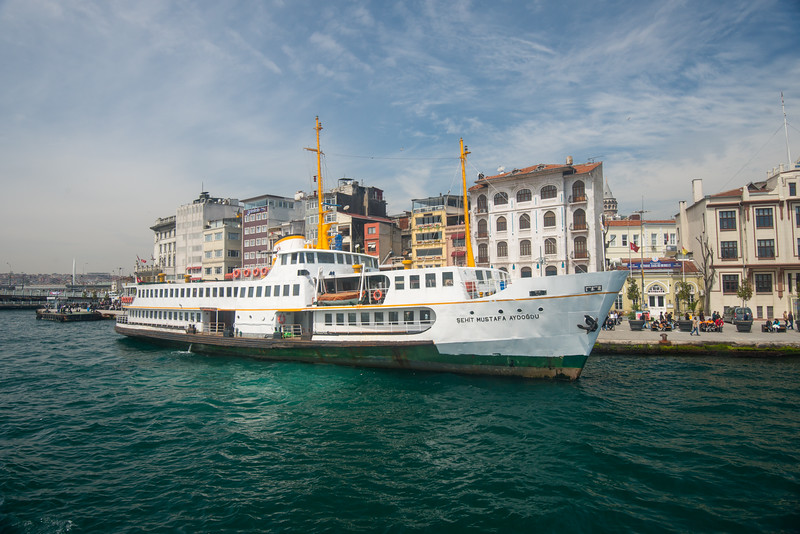 Bosphorus boat trip.  The Bosporus or Bosphorus is a narrow, natural strait and an internationally significant waterway located in northwestern Turkey. It forms part of the continental boundary between Europe and Asia, and divides Turkey.