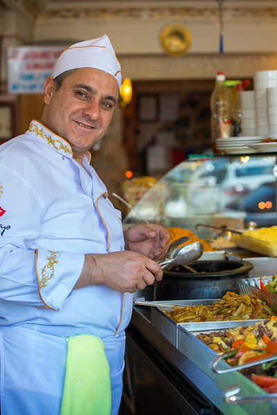 Turkish cuisine is largely the heritage of Ottoman cuisine, which can be described as a fusion and refinement of Central Asian, Middle Eastern, Mediterranean, Eastern European and Balkan cuisines. Istanbul, Turkey.