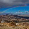 View of Palm Springs with a rainbow
