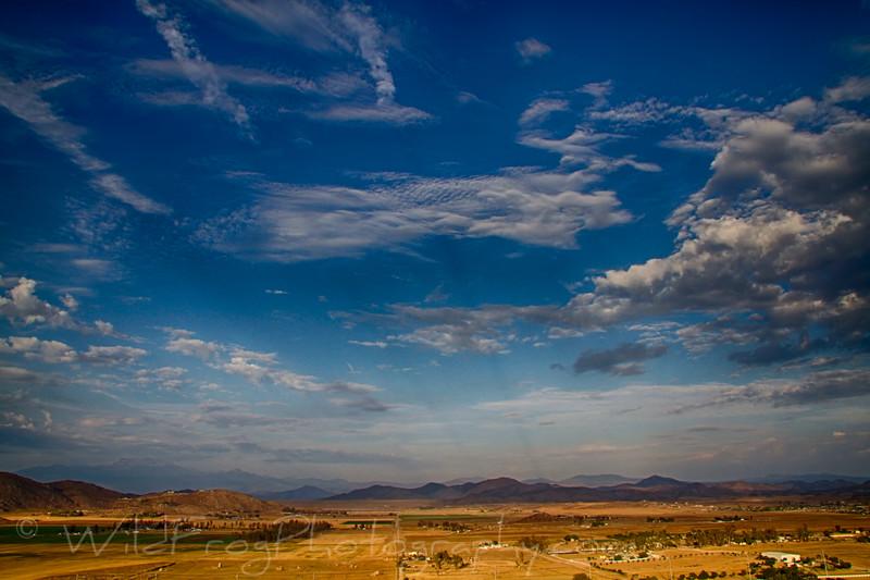 Looking east from Menifee California