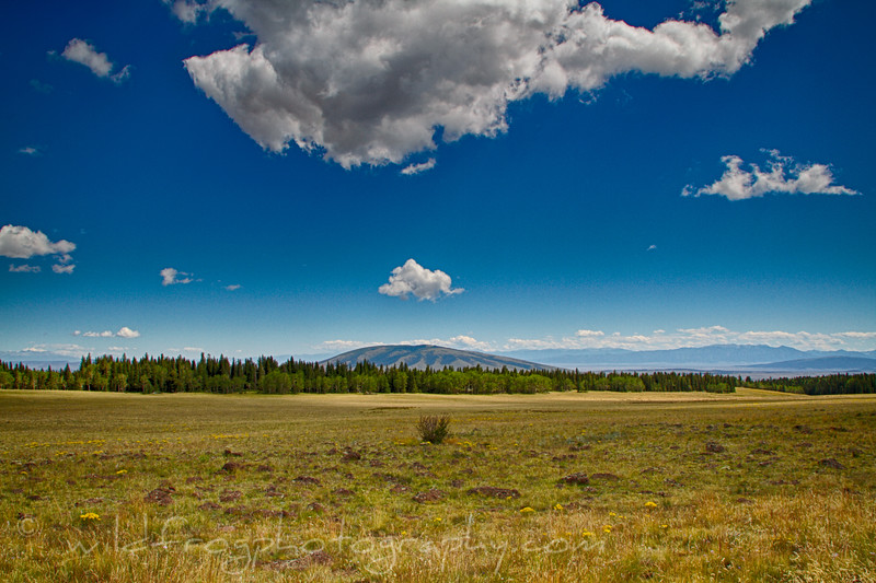 The View from the top of Broke Off Mountain, across to San Antonio Mountain, Carson National Forest - New Mexico