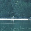 Fly fishing on lake Kintla, West Glacier national park