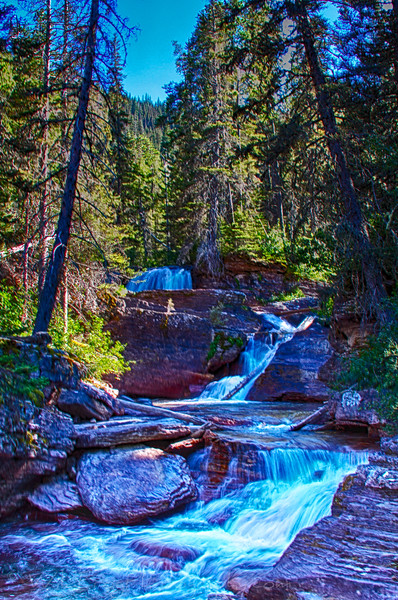 Below Virginia Falls,Glacier National Park