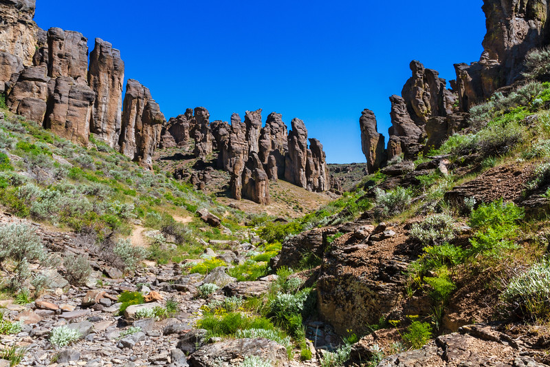 Little city of rocks near Gooding, Idaho