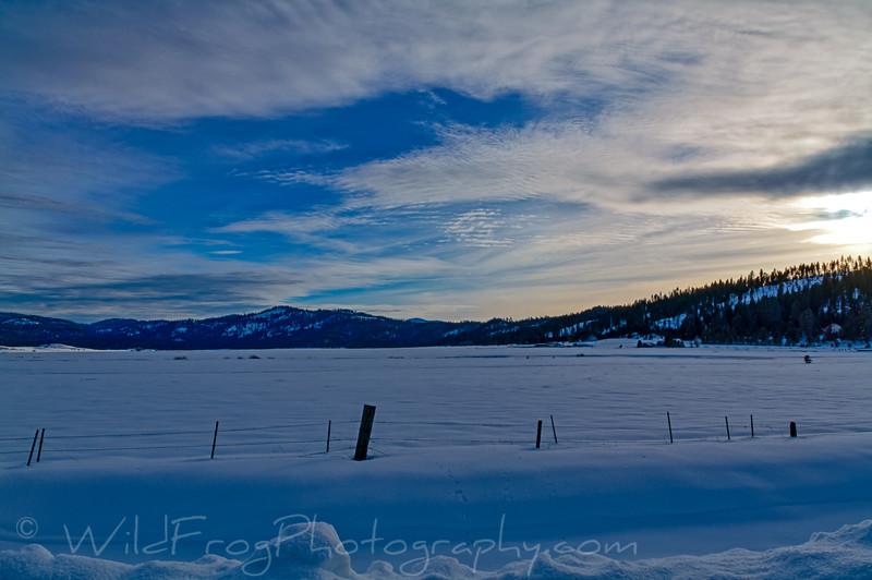 Sunset near Cascade Lake Idaho