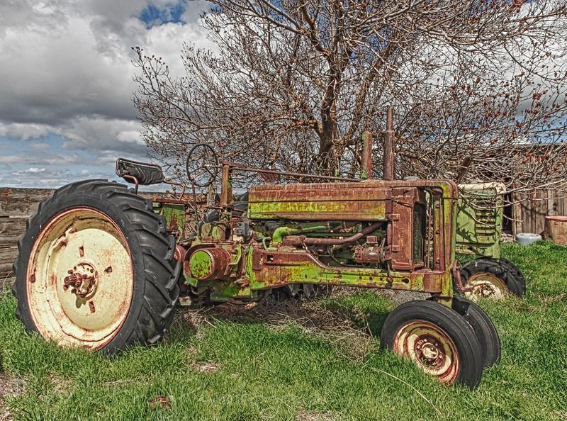 Old John Deer tractor