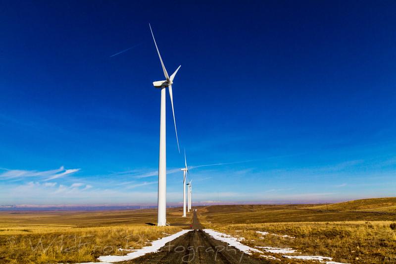 Wind farms near Twin Falls, Idaho