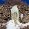 Frozen waterfall near Niagra Springs on the Snake River, Idaho