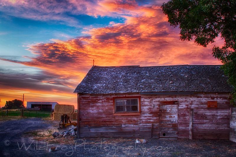 Sunset over the cat house - Idaho