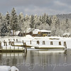 Piers on lake Payette