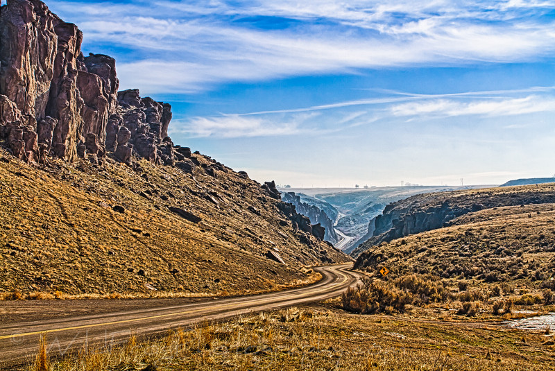 The road leading up to Balanced Rock, Idaho