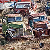 Old junk yard Trucks
