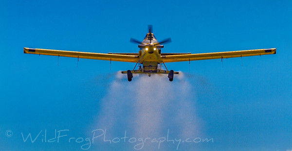 Air tractor at work in Idaho