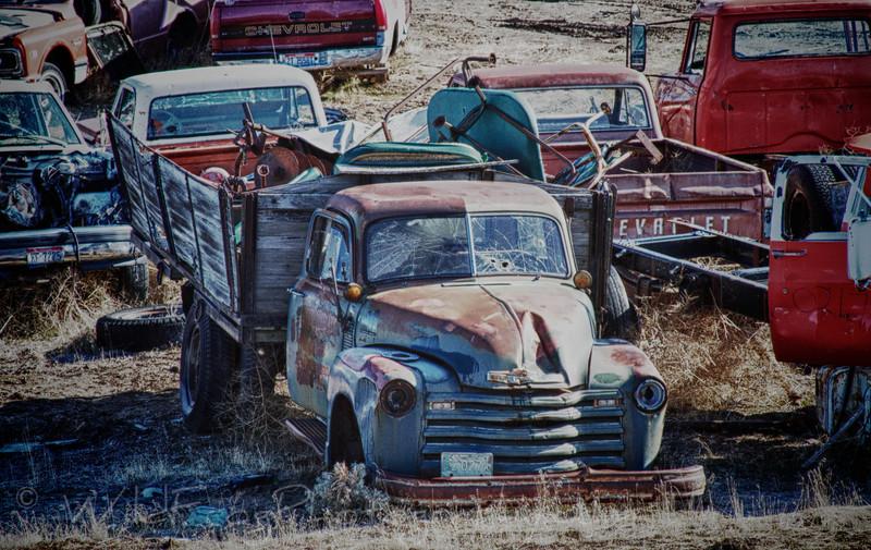 Old junk yard Truck