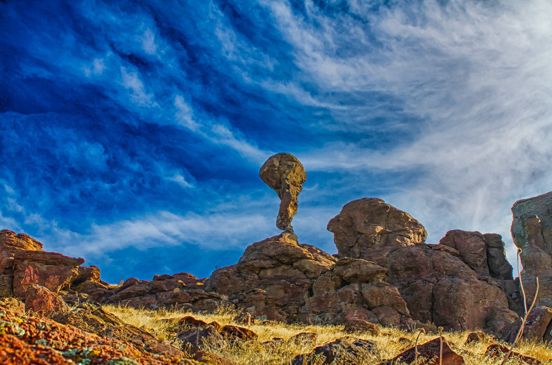 Balanced Rock 40 miles from Twin Falls Idaho